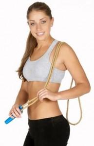 saltar la cuerda para estar saludable