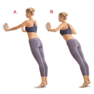 como hacer ejercicios en casa flexiones en la pared