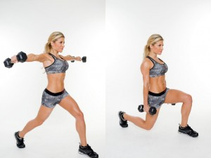 como hacer ejercicios en casa la zancada